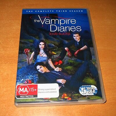 The Vampire Diaries : The Complete Third Season 3 ( Dvd , 5 Disc Set Region 4 )