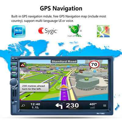 RK-7156G Car MP5 Player 7inch Touch Screen With GPS Function New