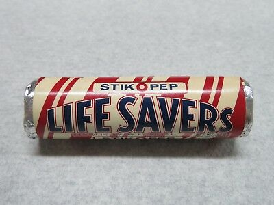 Vintage Old 1950's 1960's 7/8 in. Unopened Roll Life Savers Candy STIK O PEP