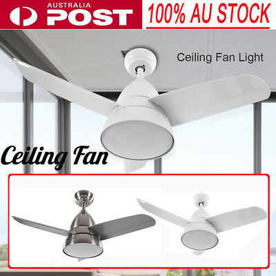 52 inch 1300mm 4 Blade LED Ceiling Fan with Light Lamp in White and Remote