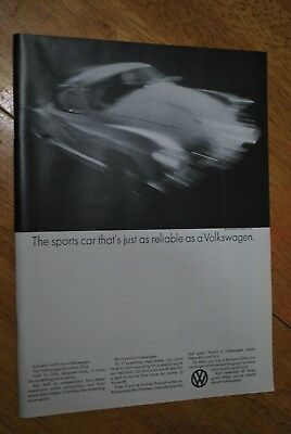 Volkswagen Karmann Ghia 1969 Playboy Magazine ad - Very Good