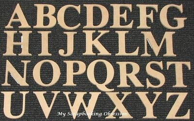 Kaisercraft 'WOODEN UPPERCASE LETTERS & NUMBERS' Medium 6cm (You Choose) Kaiser