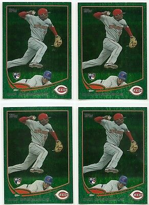 Lot of 4 - 2013 Topps Emerald Green Sparkle #296 DIDI GREGORIUS RC Reds/Yankees