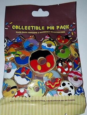 Disney PIns Mystery CHARACTER DONUTS Authentic 5-pin Collectible  FREE SHIP