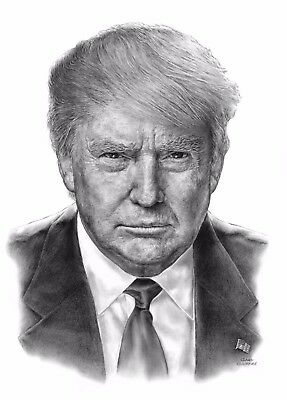 Limited Edition Lithograph Poster of President Donald J. Trump