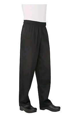 Chef Works Men's Essential Baggy Chef Pant (NBBP) Black Large