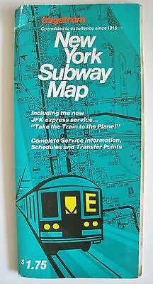 Vintage 1979 Hagstrom New York Subway Elevated Train Map Guide Foldout