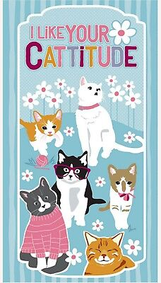 Cattitude Quilt Panel * I Like Your Cattitude * New * Free Post *
