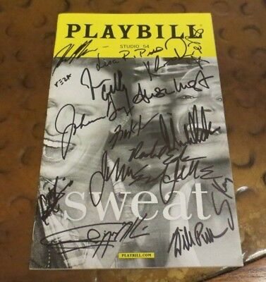 Sweat Broadway Play Playbill signed autographed by the cast