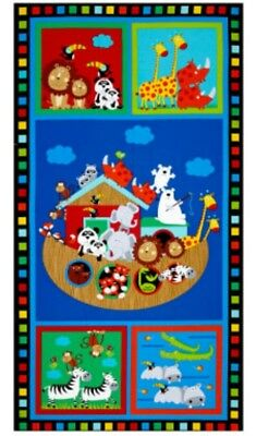 Noahs Ark * Two At A Time Quilt Panel * New * Adorable * Free Post *