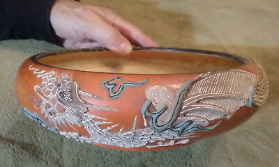 Dragonware - rare 8''  Orange Bowl