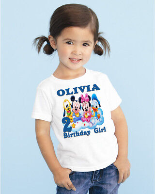 Baby Mickey Mouse Birthday T Shirt Shirts Family Custom Name Number Supplies