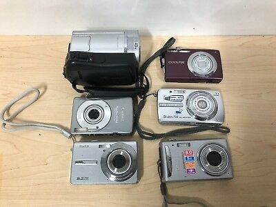 Camera Lot: Sony DCR-46, Pentax V20, Nikon Coolpix S3000