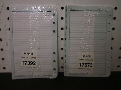 """Franklin Covey Lined Pages and Address Telephone Tabs for 4-1/4"""" x 6-3/4"""" Binder"""
