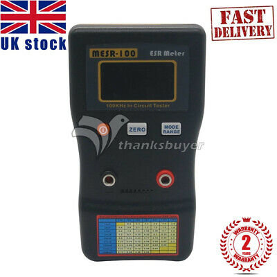 MESR-100 V2 ESR/LOW Ohm In Circuit Test Capacitor Meter with SMD Clip Probe UK