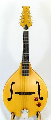 Solid Spruce and Maple Mandolin, EQ inside, great mop inlay headplate AIE