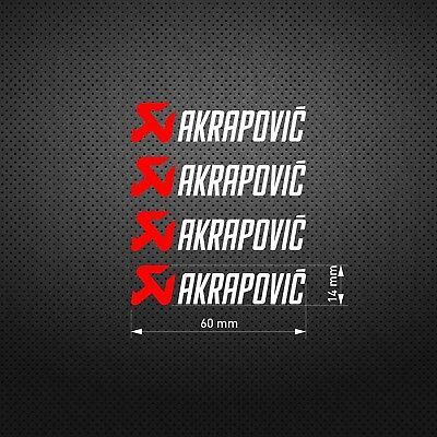AKRAPOVIC 60mm Red Scorpion STICKER DIE CUT DECAL VINYL RACING 4 pcs