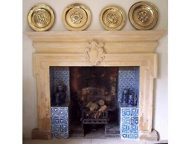 William Morris Tulip And Carnation Fireplace Tiles Green Room Kelmscott Manor