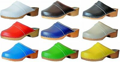 """""""MARITED"""" wooden clogs mens womens all sizes Natural Product Handmade"""