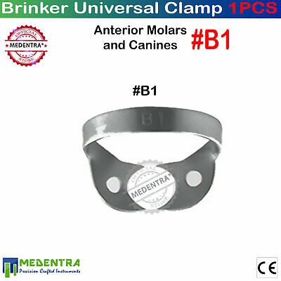 Dental #B1  Anterior & Canines Rubber Dam Brinker Gingival Tissue Clamps X1 Lab