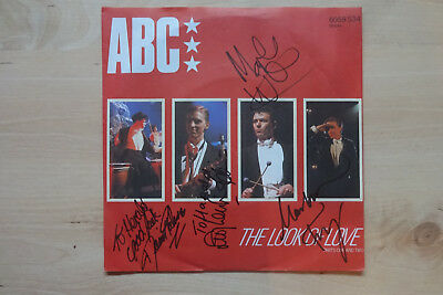 """ABC Band Autogramme full signed 18x18 cm Single """"The Look Of Love"""""""