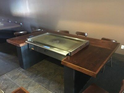 "48"" Teppanyaki Grill, Hibachi Grill, Natural Gas, Equipped With S/s Trim"