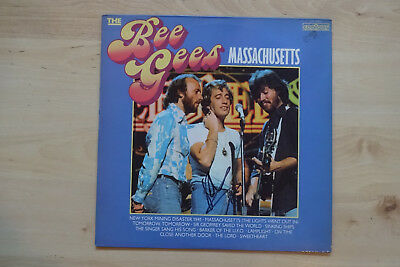 "Robin Gibb Autogramm signed LP-Cover Bee Gees ""Massachusetts"" Vinyl"