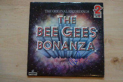 "Robin Gibb Autogramm signed LP-Cover Bee Gees ""The Bee Gees Bonanza"" Vinyl"