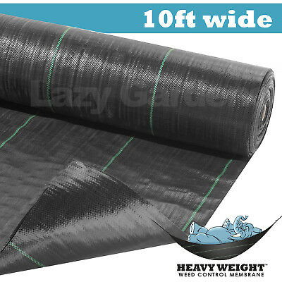 10ft weed control fabric garden landscape membrane ground cover driveway barrier