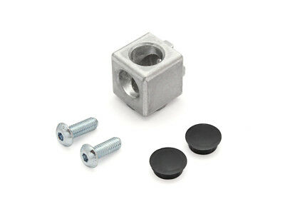 Cube Connector 2D 20 I-Type Nut 5 incl. Mounting Kit and Cover Caps