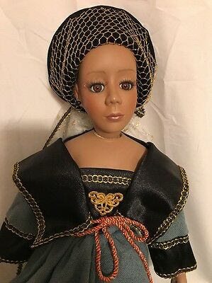 Beautiful Seymour Mann African American Doll With Certificate-No box