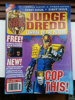 Judge Dredd Lawman of the future comics #1, 2 & 3, includes free gifts VGC