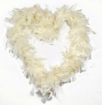 50g Ivory or Cream feather boa, 1.9m long, thuumb loops, free delivery