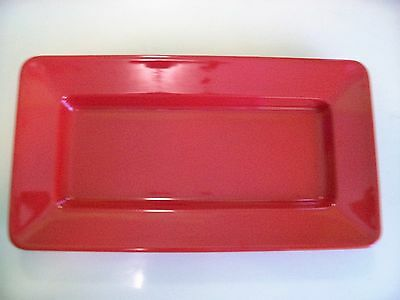 GET ML-10 Milano RED 15 x 8 Rectangular Platter. NSF APPROVED for commercial use