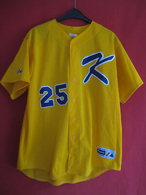 Maillot Smith #25 Majestic Athletic shirt baseball majestic yellow