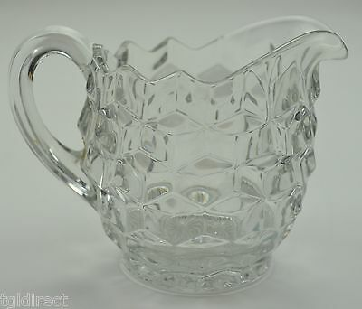 """Vintage Fostoria Glass American Clear Pattern Creamer 3.75"""" Crystal Collectible"""