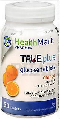 HM Glucose Tablets ORANGE 50 count PHARMACY FRESH!