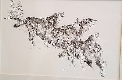 Wolf Pack Howling limited edition print by Jun #3/25 1-10-83