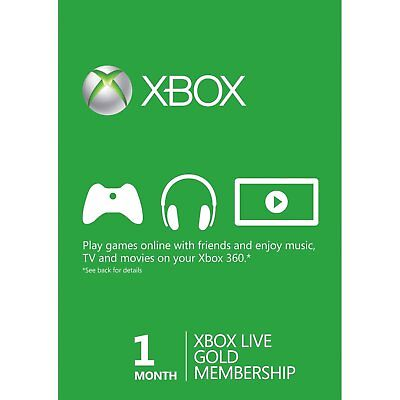 1 Month Xbox Live Gold  Membership Digital Code (E-mail Delivery)