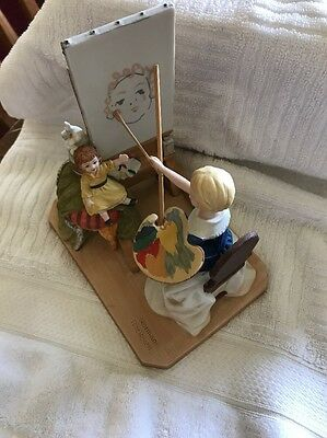 "Norman Rockwell "" The Artist's Daughter"" Figurine"