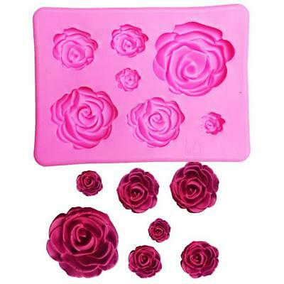 3D Silicone Mold Rose Flower Shape Mould For Candy Chocolate Cake decor Tool DIY