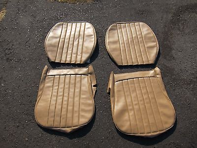 Porsche 356 B C Sc Coupe Or Cabriolet Front Wide Back Seat Cover Set Vinyl