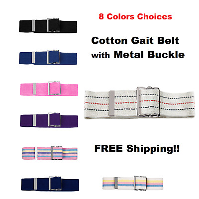 Prestige Medical Cotton Gait Belt with Metal Buckle Model 621~FREE Shipping~NEW~