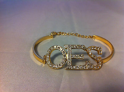 Order of the Eastern Star OES Bracelet-Gold