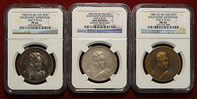1906 Pikes Peak, Southwest Expedition, RARE Matched Set of Three 0226-01