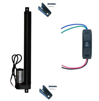 WindyNation 12V Linear Actuator + UP Down Switch + Mounting Brackets 225 lb Lift