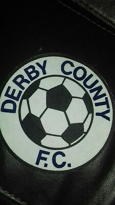 """Derby county fc vintage 80.s 6"""" printed rare sew patch. coat.or t shirt"""