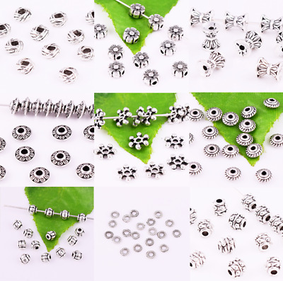 Wholesale Lot Beautiful Metal Tibetan Silver Small Charms Spacer Beads~Lot size~