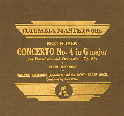 WALTER GIESEKING -PIANO- & SAXON STATE ORCH. Mozart: Concerto 4  in G Major A311