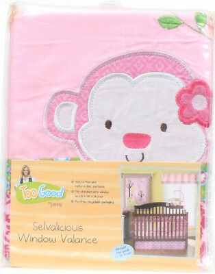 Too Good By Jenny McCarthy Selvalicious Window Valance Pink Monkey 58 X 14 Inch